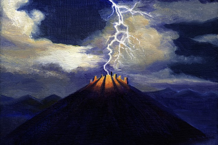"""Lightning on Feathertop"" (detail) - Artwork © by Jef Murray"