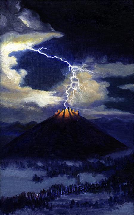 """Lightning on Weathertop"" - Artwork © by Jef Murray"