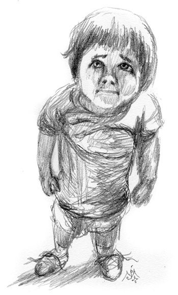Lost Child – Sketch © by Jef Murray