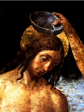 Baptism of Christ by Perugino