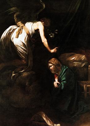 Annunciation - by Caravaggio