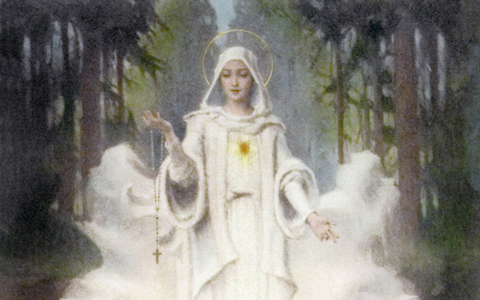 """Our Lady of Fatima"" (detail) by Chambers"