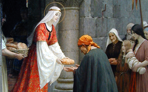 """Charity of St. Elizabeth of Hungary"" (detail)