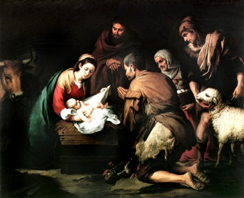 """Adoration of the Shepherds"" by Murillo"