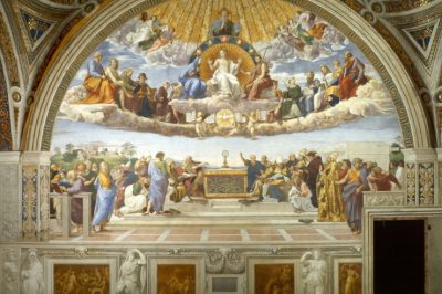Disputa (Disputation of the Blessed Sacrament - Detail) by Raphael