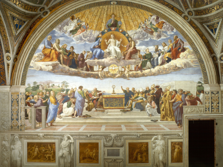 Disputa (Disputation of the Blessed Sacrament) by Raphael