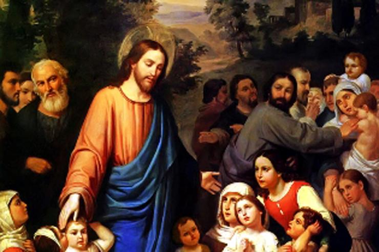 """Suffer little children to come unto me"" (detail)  by Juan Urruchi"