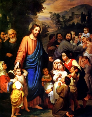 """Suffer little children to come unto me"" by Juan Urruchi"