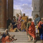 """""""Saints Peter and John Healing the Lame Man"""" by Nicolas Poussin (1655)"""