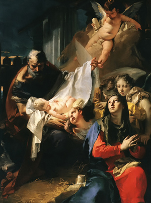 """Adoration of the Christ Child"" by Giovanni Tiepolo"