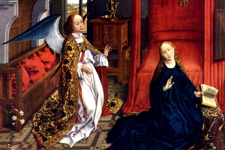 """The Annunciation"" (detail) by Van der Weyden"