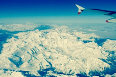 Over the Alps, Milan to London flight.  Photography by Isaac Armstrong