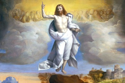 """Ascension of Christ"" (detail) by Garofalo"