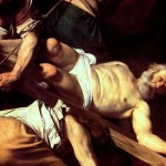 """""""The Martyrdom of St. Peter"""" (detail) by Caravaggio"""