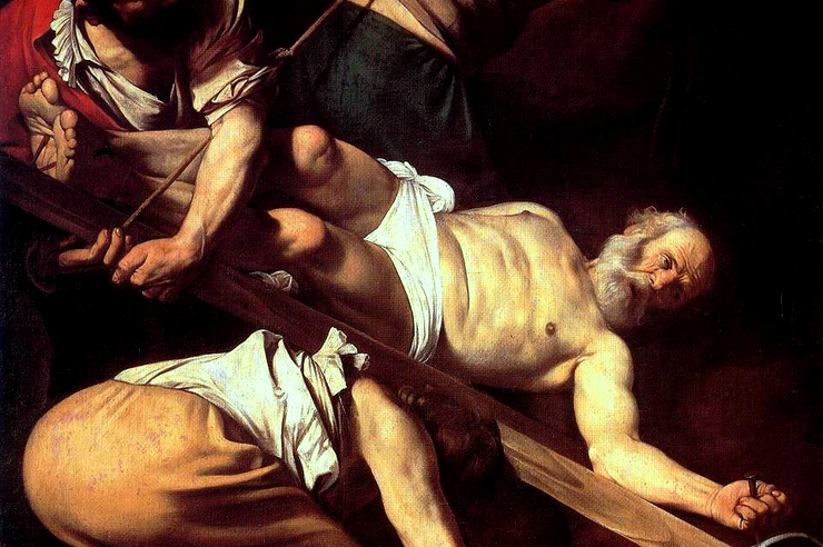 """The Martyrdom of St. Peter"" (detail) by Caravaggio"