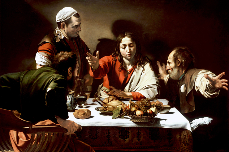 """Supper at Emmaus"" (detail) by Caravaggio"