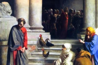 """Peter's Denial"" (detail) by Carl Bloch"
