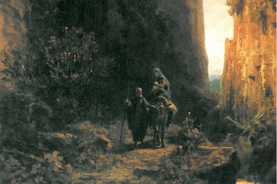 """The Flight to Egypt"" (detail) by Carl Spitzweg"