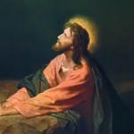 """Christ in Gethsemane"" (detail) by Heinrich Hofmann"