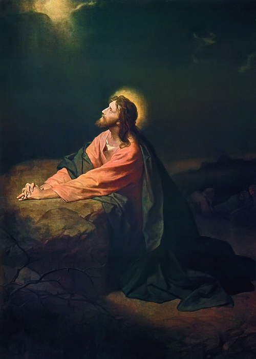"""Christ in Gethsemane"" by Heinrich Hofmann"