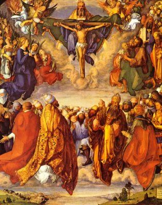 Image result for communion of saints painting