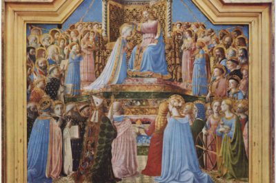 """""""The Coronation of the Virgin"""" (detail) by Fra Angelico"""