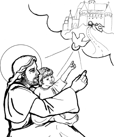 """Jesus Teaches the Child"" by Judith Costello"