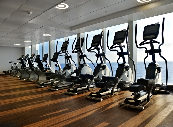Elliptical Exercise Machines on Cruise Ship