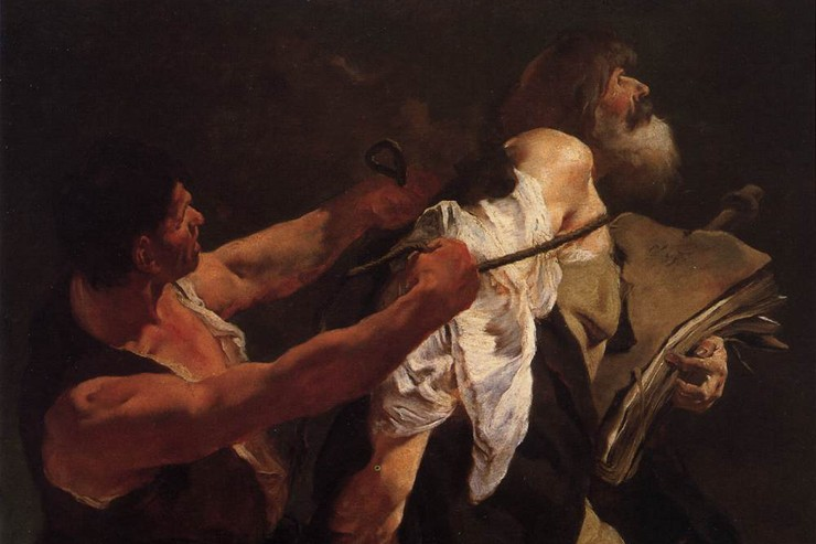 """The Martyrdom of St. James"" (detail) by Giovanni Battista Piazzetta"