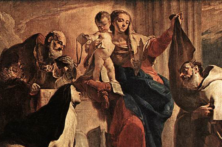 """""""The Madonna of Carmel and the Souls of the Purgatory"""" (detail) by Giovanni Battista Tiepolo"""