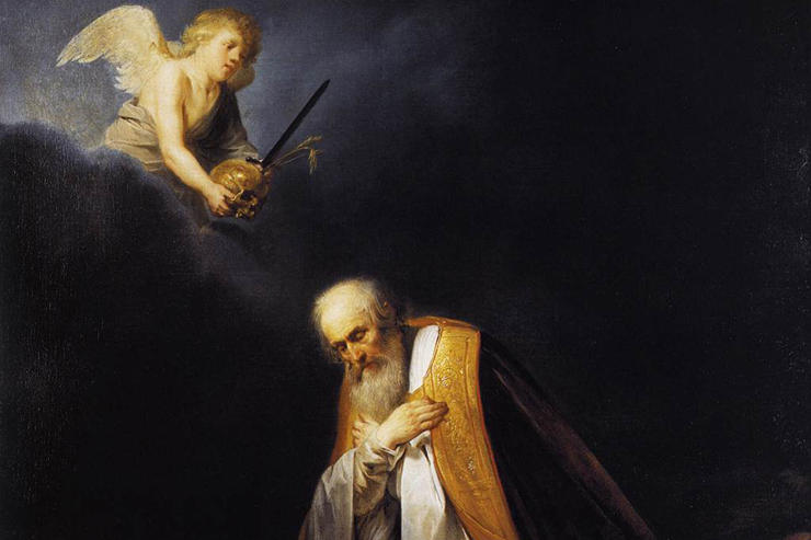"""King David in Prayer (detail)"" by Pieter de Grebber"
