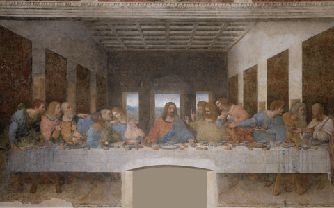 """The Last Supper"" (detail) - by Da Vinci"