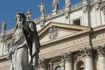 Statue of St. Paul at the Entrance to St. Peter's Bascilica Photography by Mark Armstrong