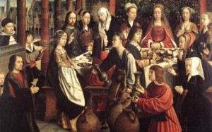 """Marriage at Cana"" by Gerard David"