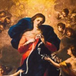 """Mary Untier of Knots"" (detail) by Johann Georg Melchior"