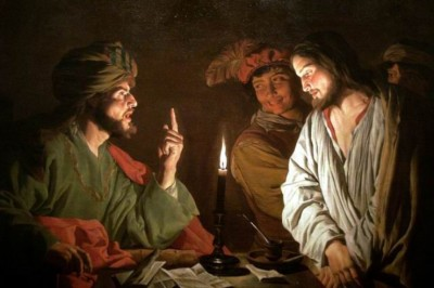 """Christ before Caiaphas"" (detail) by Mattias Stom"