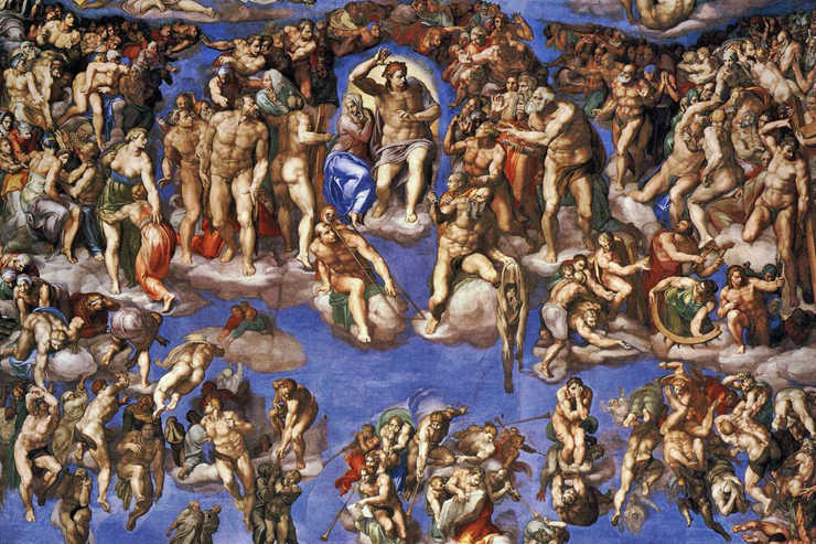 """General Judgment"" (detail) by Michelangelo"