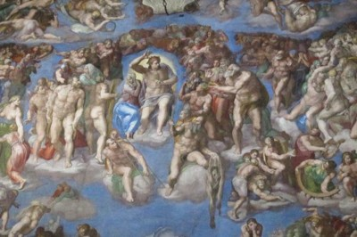 "Michelangelo's ""Last Judgment"" on the Altar Wall in the Sistine Chapel Photography by Mark Armstrong"