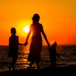 mother-and-children-sunset-featured-w740x493