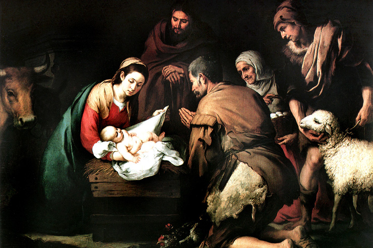 """Adoration of the Shepherds"" (detail) by Murillo"