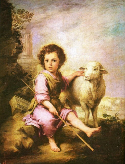 """Christ, the Good Shepherd"" by Murillo"