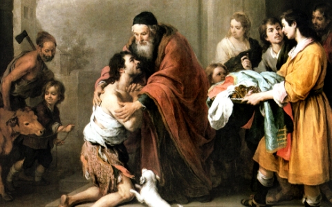 """The Return of the Prodigal Son"" (detail) by Murillo"