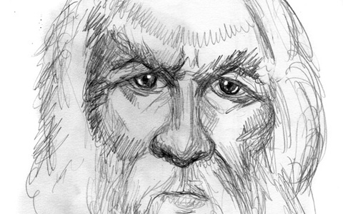 Gandalf the Prophet (detail) Artwork © by Jef Murray