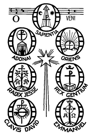Symbols for O Antiphons