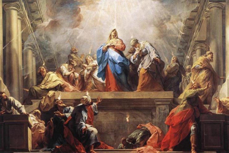 """La Pentecôte"" (The Pentecost - detail) by Jean II Restout"