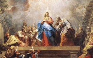 """Pentecost"" (Detail of Mary) by Jean Restout"