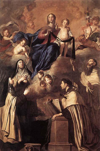 """""""Our Lady of Mt. Carmel"""" by Pietro Novelli"""
