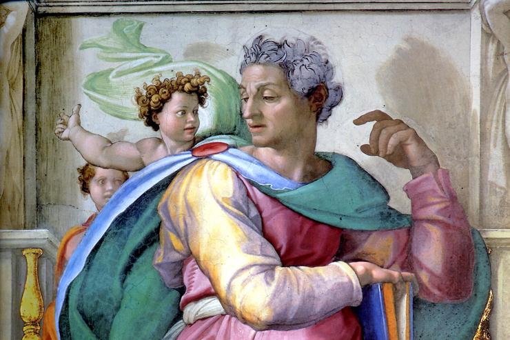 """The Prophet Isaiah"" (detail) by Michelangelo"