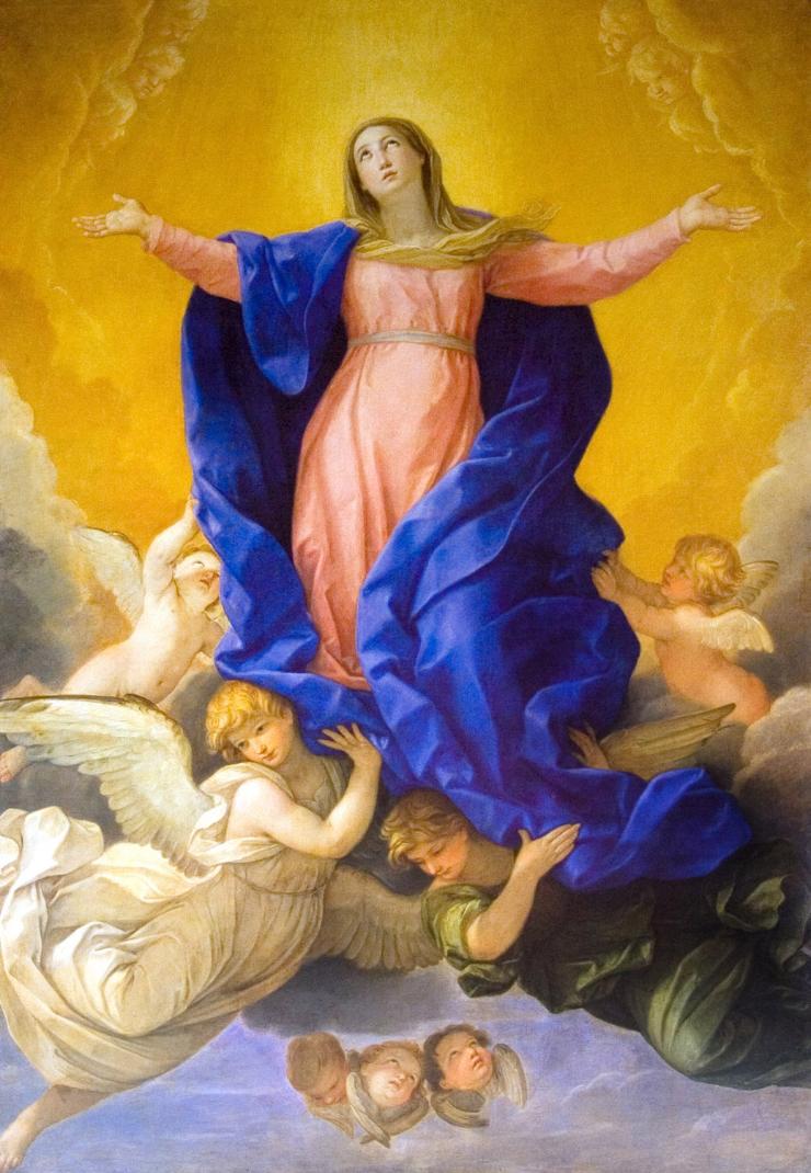Titian Assumption Mary Painting Santa Maria Gloriosa De Frari Ch Stock Photo