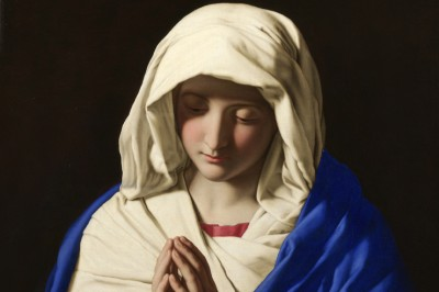 """The Virgin in Prayer"" (detail) by Sassoferrato"